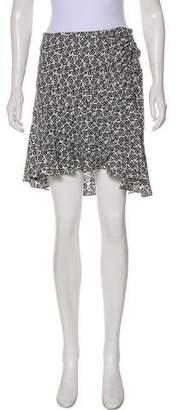 A.L.C. Printed Silk Mini Skirt
