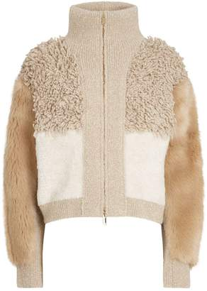 Stella McCartney Patchwork Faux Fur Jacket