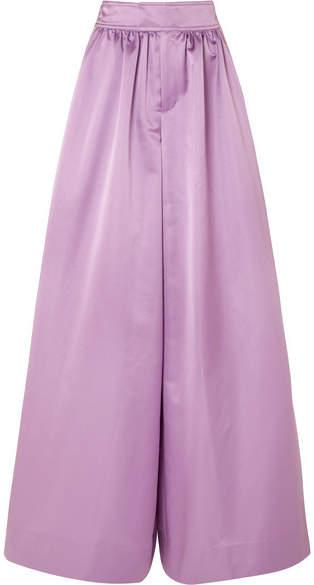 J.Crew - Kent Duchesse-satin Wide-leg Pants - Lavender