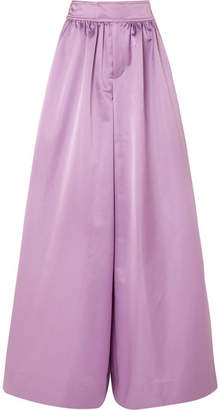 J.Crew Kent Duchesse-satin Wide-leg Pants - Lavender