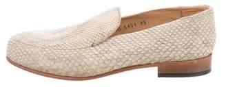 Dieppa Restrepo Python Round-Toe Loafers w/ Tags