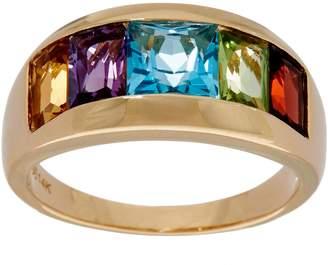 Channel Set Multi-Gemstone Band Ring 14K Gold 2.85 cttw