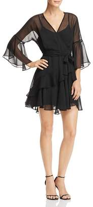 French Connection Ellette Ruffled Faux-Wrap Dress