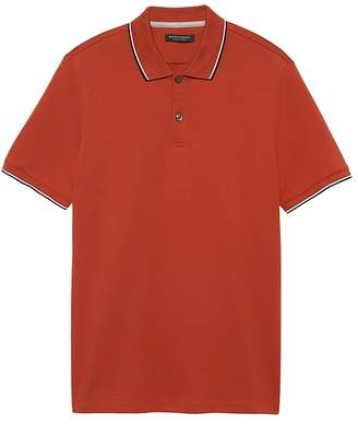 Banana Republic Slim Luxury-Touch Tipped Polo