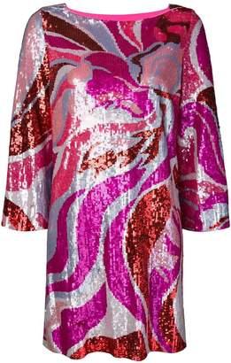 Emilio Pucci sequin shift dress