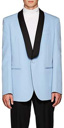 Calvin Klein Men's Satin-Trimmed Wool Oversized Tuxedo Jacket - Lt. Blue