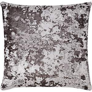 Aviva Stanoff Crushed Velvet Pillow - Charcoal