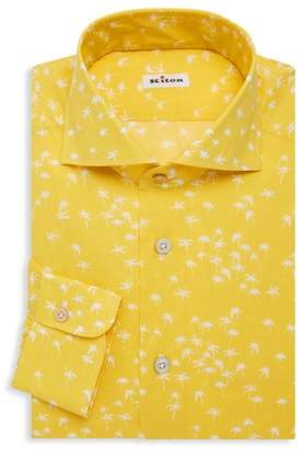 Kiton Palm Tree Dress Shirt