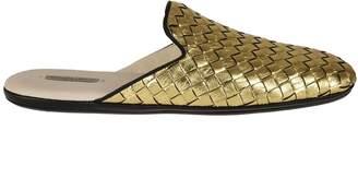 Bottega Veneta Metallic Braided Slippers