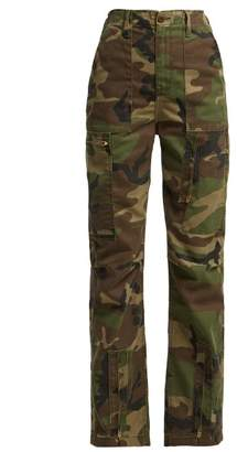 Re/Done Originals Re/done Originals - High Waisted Camouflage Print Jeans - Womens - Green Multi
