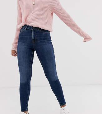 Vero Moda Petite skinny shape up jeans in dark blue