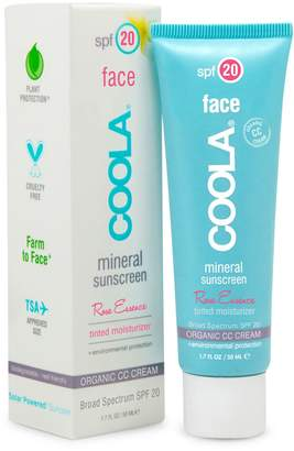 Coola SPF 20 Face Rose Essence Tinted Moisturizer Mineral Sunscreen