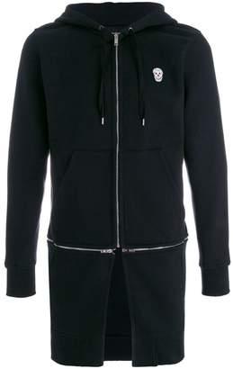 Alexander McQueen double zip longline hoodie