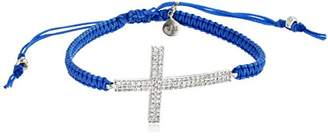 Tai Braided Cord with Large Cross Bracelet
