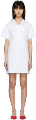 Carven White Twist Detail Dress