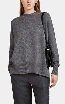 Jil Sander Women's Side-Slit Cashmere Oversized Sweater - Dark Gray