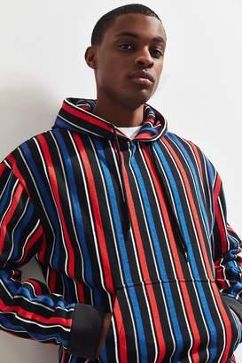 Urban Outfitters Vertical Stripe Knit Hoodie Sweatshirt