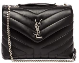 Saint Laurent Lou Lou Small Quilted Leather Shoulder Bag - Womens - Black