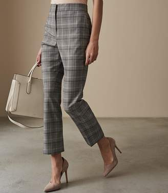 Reiss Ora Trouser - Slim Fit Tailored Trousers in Grey