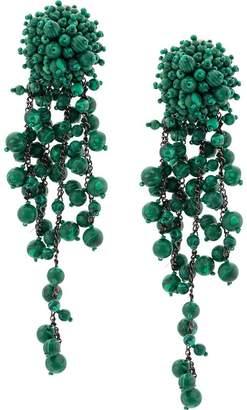 Oscar de la Renta beads and chains earrings