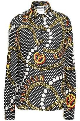 Moschino Printed Silk-twill Shirt