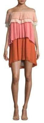 Paige Tiered Pleated Shift Dress