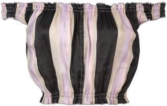 Apiece Apart off-shoulder striped crop top