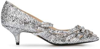 No.21 glitter bow pumps