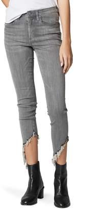 Blank NYC BLANKNYC The Bond Asymmetrical Frayed Hem Skinny Jeans