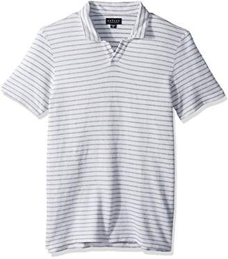 Velvet by Graham & Spencer Men's Velvet Lennon Striped Open Collar Polo