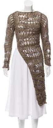 Isabel Benenato Crochet Long Sleeve top