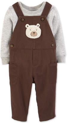 Carter's Baby Boys 2-Pc. Bear Overalls & Bodysuit Set