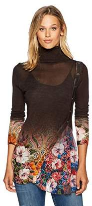 Desigual Women's Long Freya Woman Flat Knitted Thin Gauge Pullover