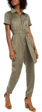 Bar III Zip-Front Jumpsuit, Created for Macy's