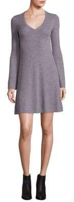 BCBGMAXAZRIA Althea Merino Wool Knit A-Line Dress