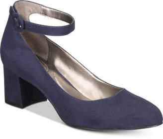 Bandolino Odear Ankle-Strap Block Heel Pumps Women's Shoes