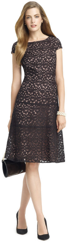 Anne Klein Ribbon Lace Swing Dress