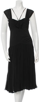 Vera Wang Sleeveless Midi Dress $100 thestylecure.com