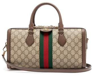 Gucci Ophidia Boston Gg Supreme Logo Bag - Womens - Beige Multi