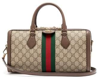 Gucci Ophidia Boston Gg Supreme Logo Bag - Womens - Beige Multi