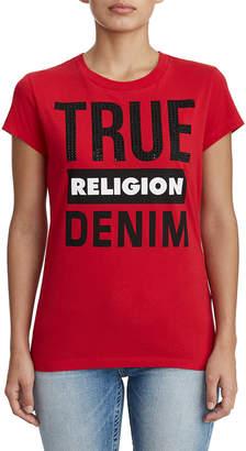 True Religion WOMENS DENIM GRAPHIC TEE