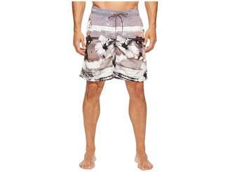 Bugatchi Tropical Sunset Swim Trunks Men's Swimwear