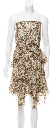 Leifsdottir Floral Print Silk Dress