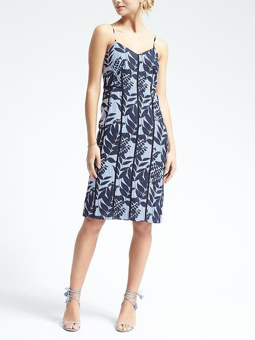 Banana Republic Print Strappy Slip Dress