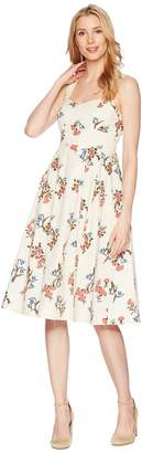 Donna Morgan Printed Cotton Poplin Fit and Flare Women's Dress