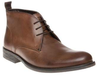 Base London New Mens Brown Alder Leather Boots Chukka Lace Up
