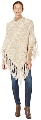 San Diego Hat Company BSP5011 Multicolor Yarn with Gold Lurex Poncho