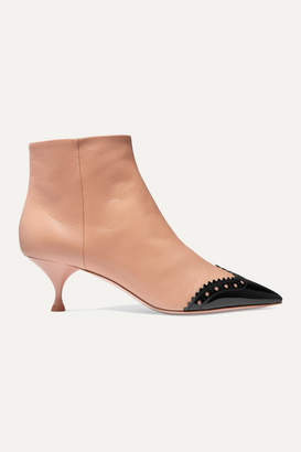 Miu Miu Two-tone Leather Ankle Boots - Neutral