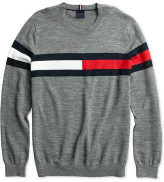 Tommy Hilfiger Adaptive Men Julian Flag Sweater with Hook & Loop Closure