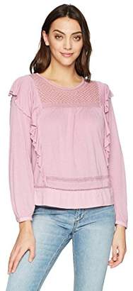 Lucky Brand Women's Ruffle Blouse